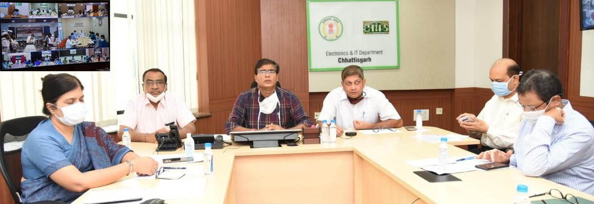 CS discussed the situation of Covid-19 in the state after discussing with the collectors through video conference
