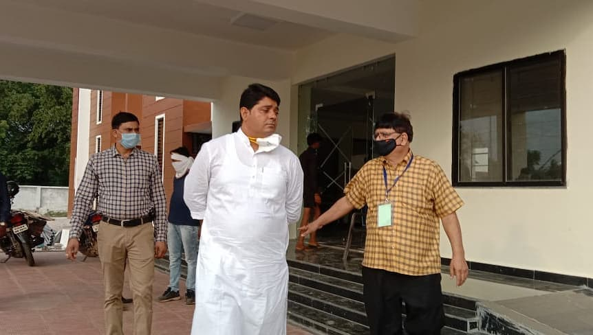 Mayor Mr. Ajaz Dhebar inspected the proposed Covid-19 hospital