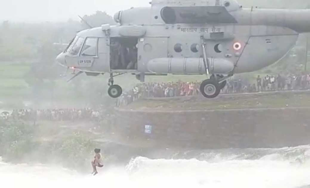 Chief Minister congratulates Indian Air Force for rescuing young man trapped in Kuntaghat