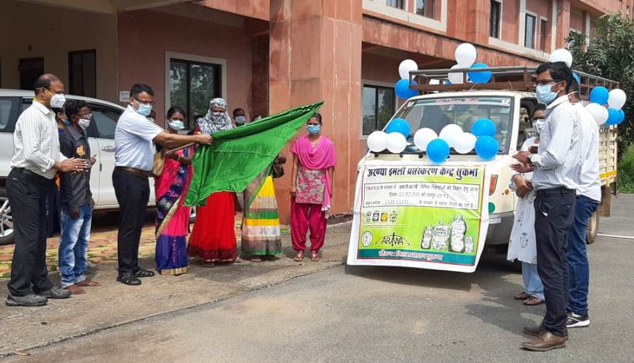 Collector flagged off tamarind vehicle
