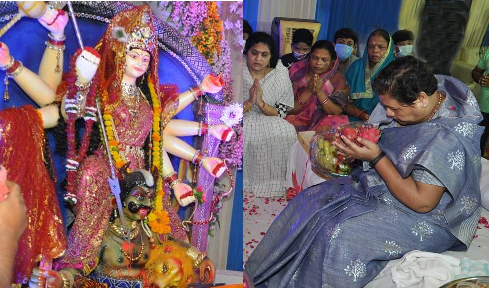 Governor involved in Durga Puja