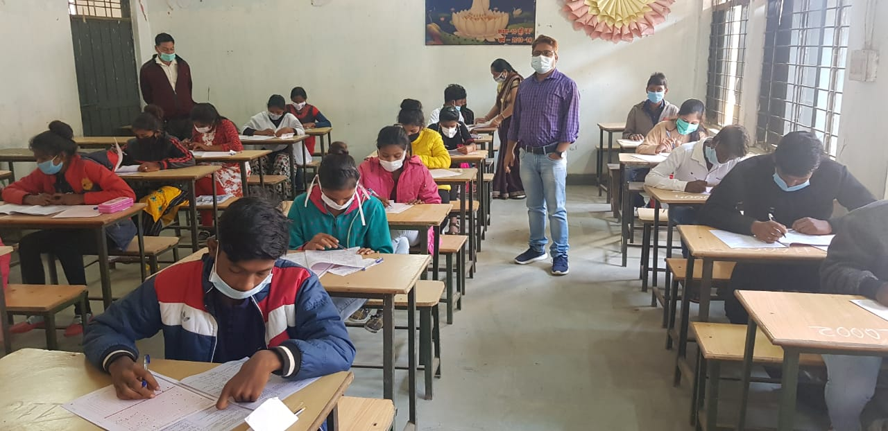 8563 students appeared in Prayas school entrance examination