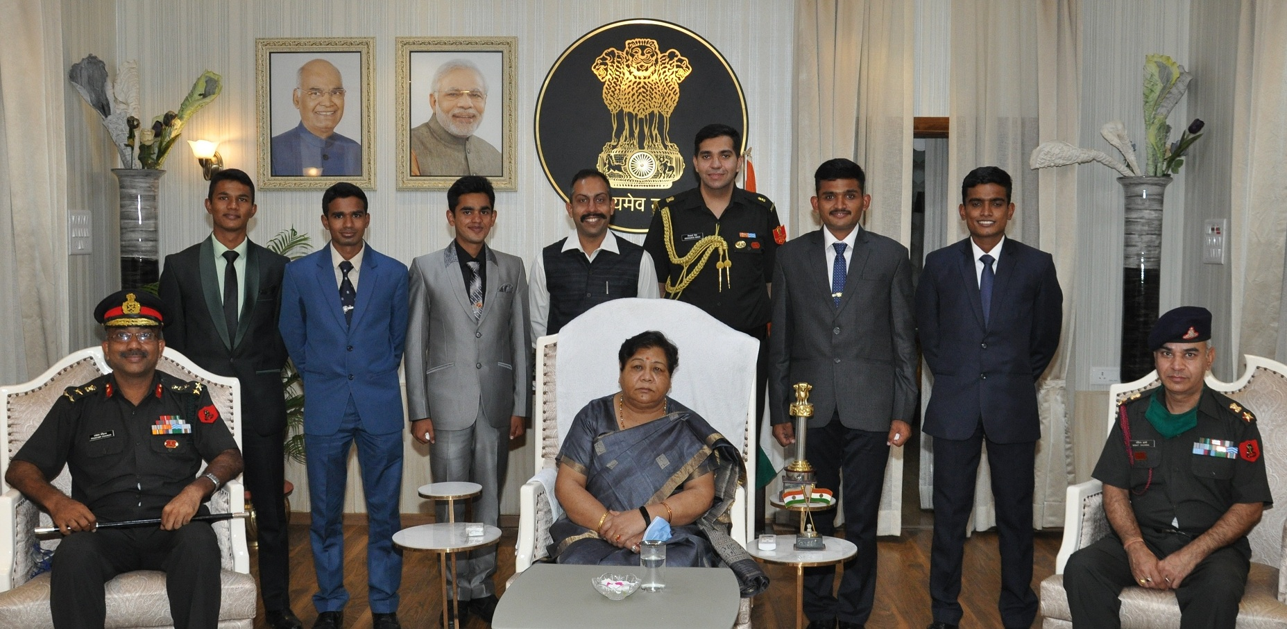 Cadets of Chhattisgarh pass out from the National Defense Academy to the Governor