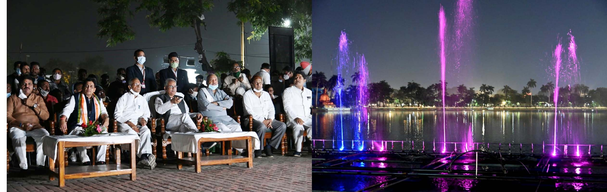 Chief Minister inaugurated the musical fountain at Budhatalab