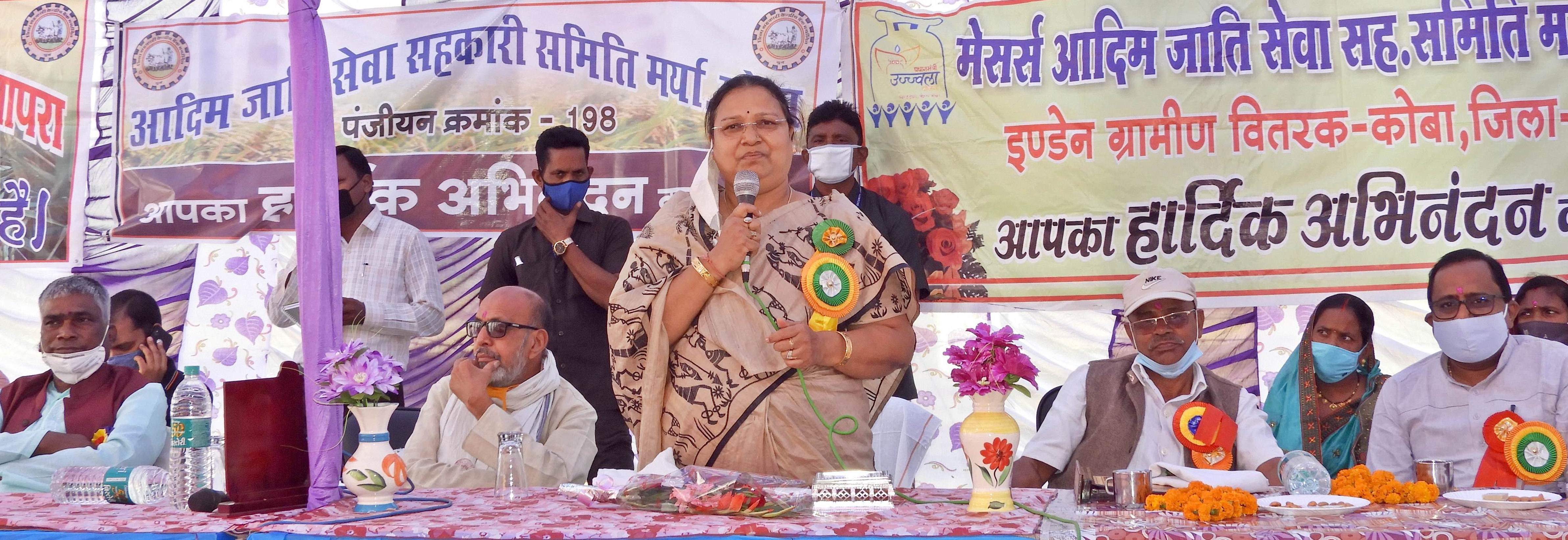 Minister Mrs. Bhendia inaugurated 6 new paddy procurement centers
