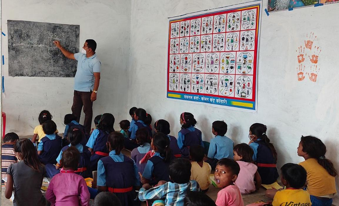 Use of Rangoli, Mehndi and wall paintings to teach children