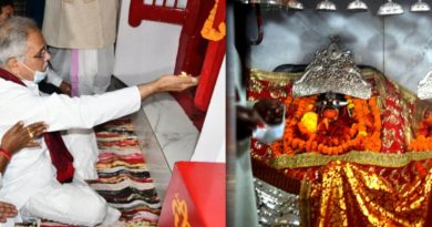 CM worshiped at Mahamaya Temple in Ambikapur - Wished state happiness and prosperity