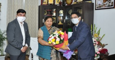 From the Governor to Dr. C.V. Vice Chancellor of Raman University, Dr. Ravi Prakash Dubey, courtesy meeting