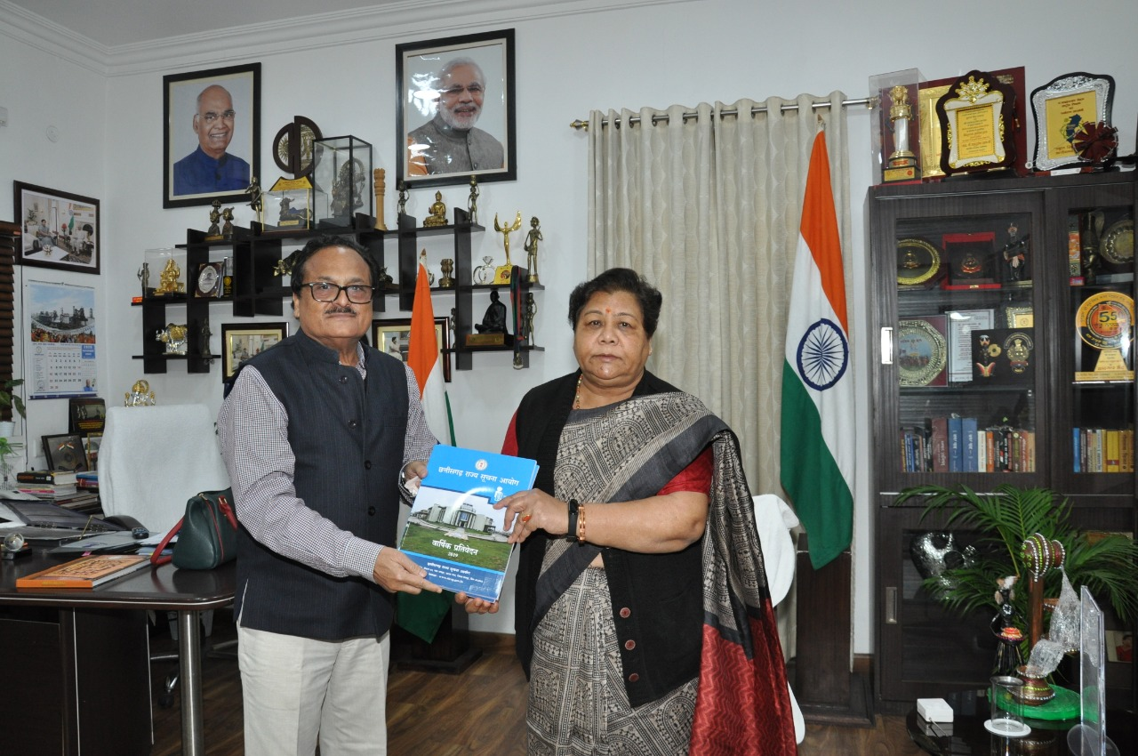 The Chief Information Commissioner Mr. Raut presented the annual report of the Commission to the Governor