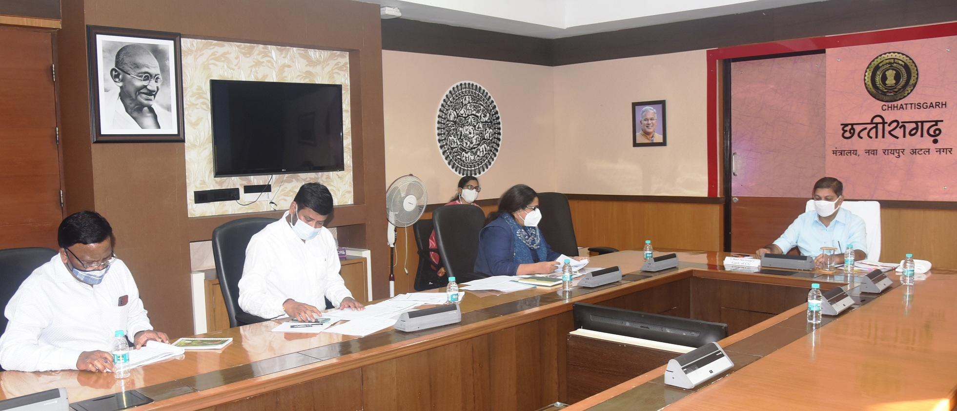 The Gothans of the state will be geotagging, Chief Secretary took information about the scheme