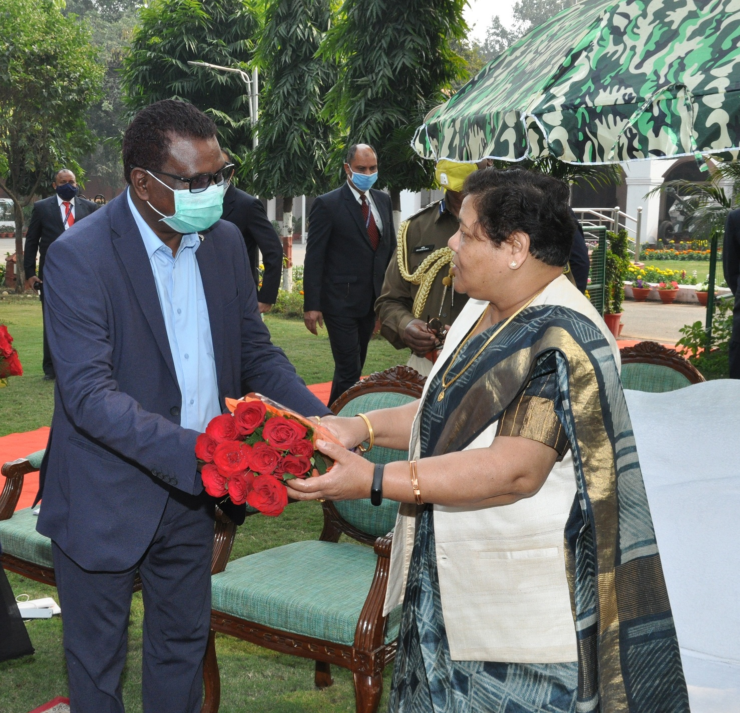 Governor congratulated all the officials and employees of Raj Bhavan on the occasion of New Year