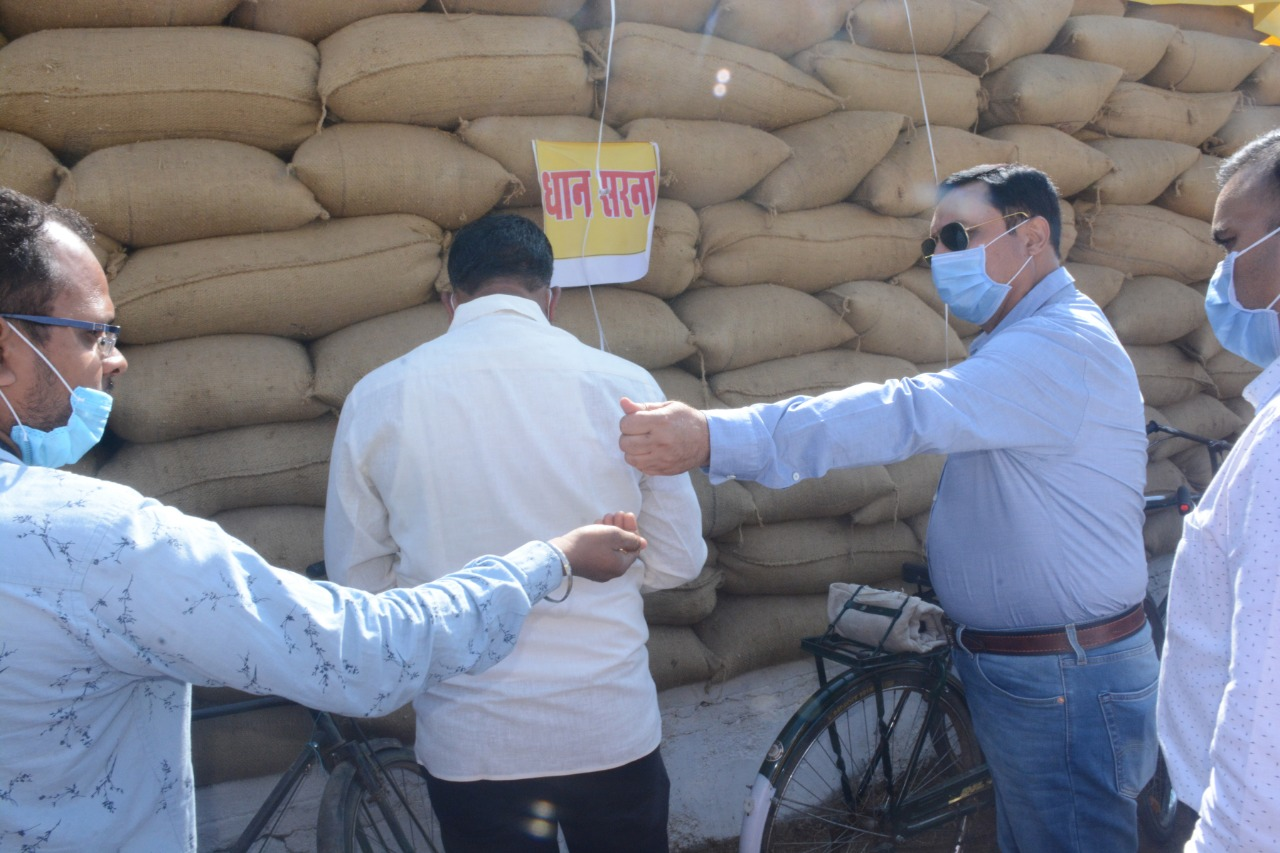 The commissioner inspected the Paddy Procurement Center