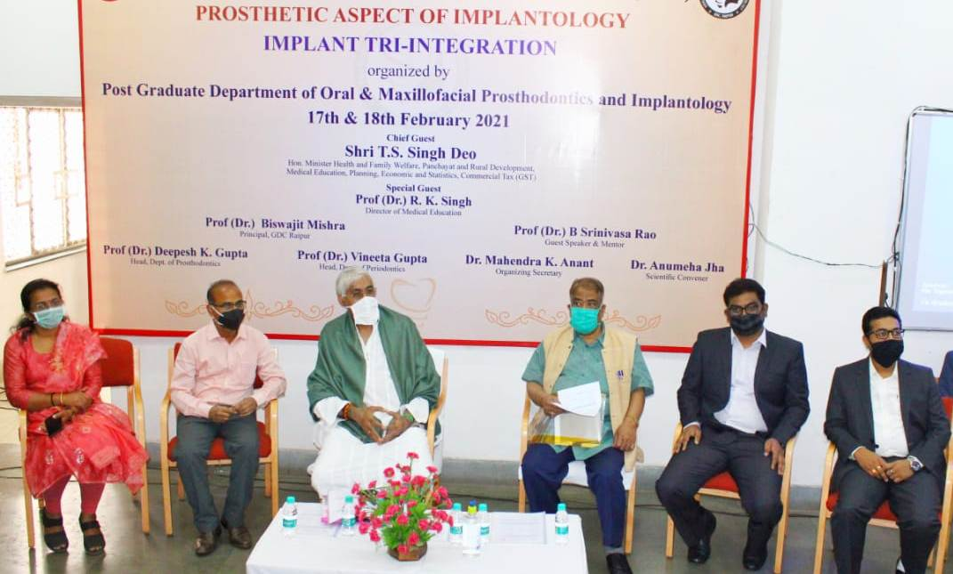 Health Minister Mr. Singhdev inaugurated the implant tri-integration workshop