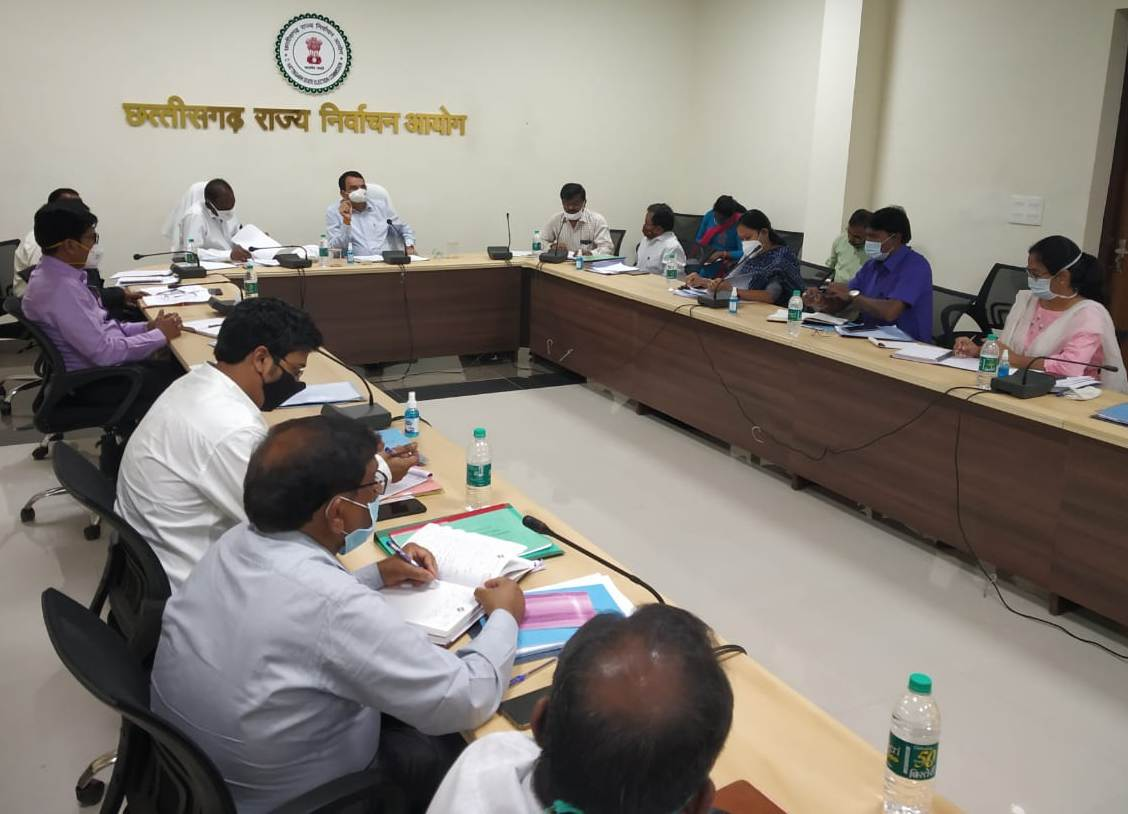 State Election Commissioner reviewed preparatory preparations for election in 13 urban bodies